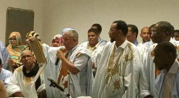 انتخاب فيدرالية UPR اترارزه ومقاطعة المرشح ولد الشيخ لحفل التنصيب(صور)