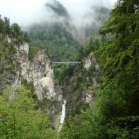 Bridge and waterfall near Neuschwanstein castle