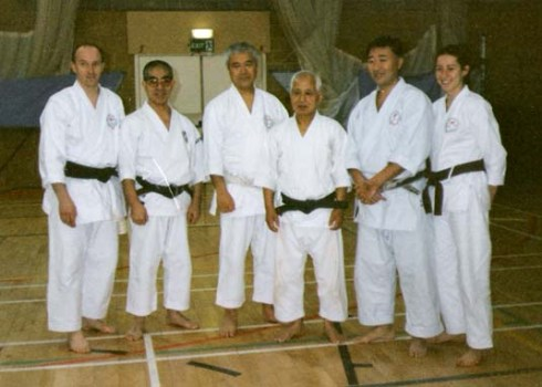 1997 Shikukai Chelmsford Dan grades with Senseis Takamizawa, Shiomitsu, Suzuki (N) and Iwasaki.