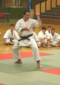 2005 Steve Thain of Shikukai Chelmsford in the kata event at the Wado Academy Nationals.