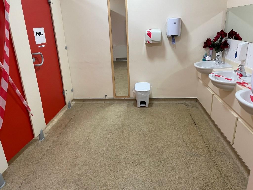 Entrance toilets