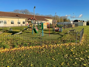 Kids playground and changing rooms