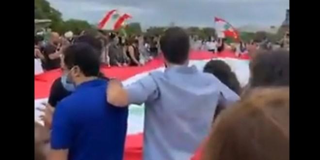 بالفيديو- من باريس الى بيروت… تظاهرة حاشدة تضامناً مع أبناء الوطن!