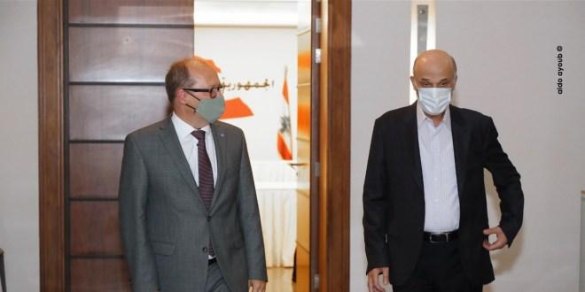 جعجع استقبل سفير النمسا الجديد في زيارة تعارف