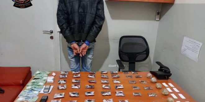 أمن الدولة: توقيف سوري في الحدث أثناء ترويجه المخدرات