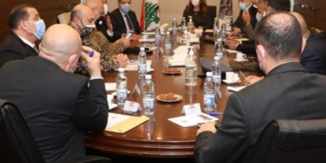 اجتماع في وزارة الدفاع ناقش موضوع مكافحة التهريب والإحتكار