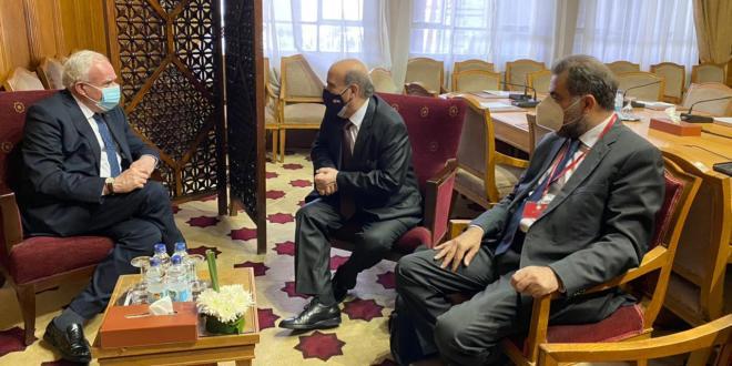 وهبه في مجلس جامعة الدول العربية: نرجو مواكبة جهودنا لكشف حقيقة التسرب النفطي على شاطئنا ولتشكيل حكومة تعمل على مواجهة التحديات