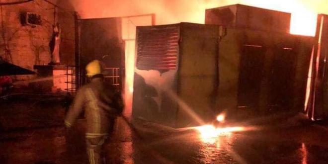في جبيل…حريق مولدين للتغذية بالطاقة الكهربائية وخزانات مازوت