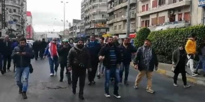 مسيرة في طرابلس احتجاجاً على ارتفاع سعر صرف الدولار