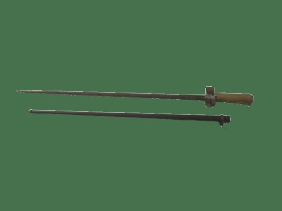 """Lebel M1886-15 Bajonett """"Rosalie"""" mit Vierkantklinge und einem Messinggriff"""