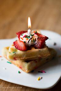 Cake Batter Waffles