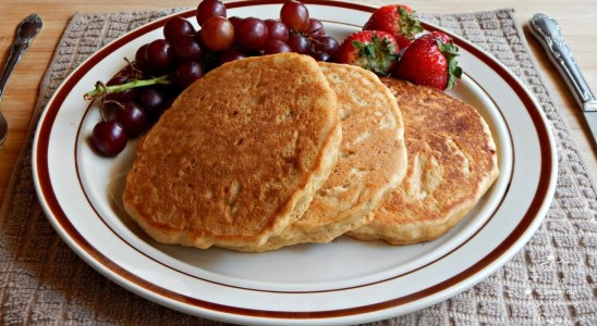 Healthy Whole Wheat Pancakes Recipe (No Eggs + No Dairy) | The Sweetest Journey