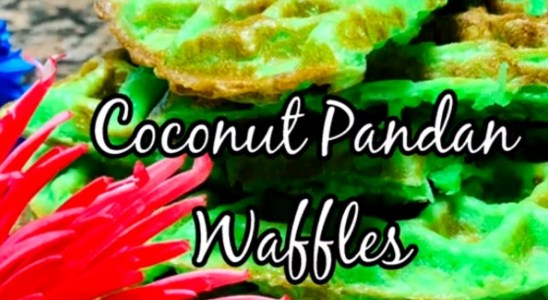 Banh Kep La Dua | How to make Coconut Pandan Waffles | Crispy Chewy Recipe
