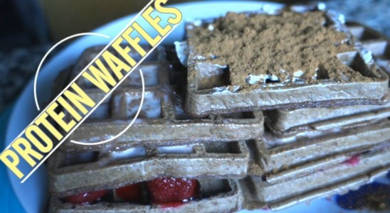 Chocolate Protein Waffles Recipe - Good Pre Workout Meal
