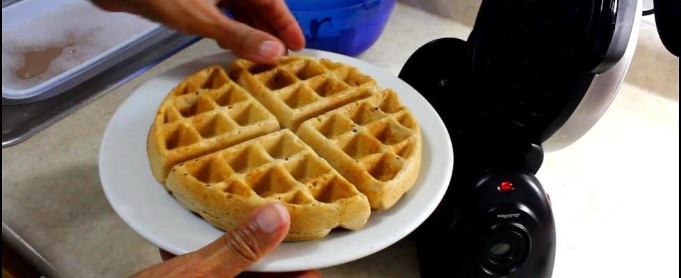 Belgian Apple Spice  Waffles Vegan/No need to add sugar