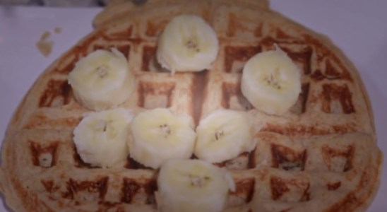 Healthy PROTEIN Banana Maple Pecan Waffles Recipe - MzbrooklynJourney