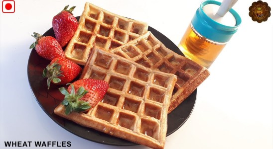 Healthy Whole Wheat Waffles | Waffels Recipe | Kids Special | Simple &  Easy Waffles Recipe