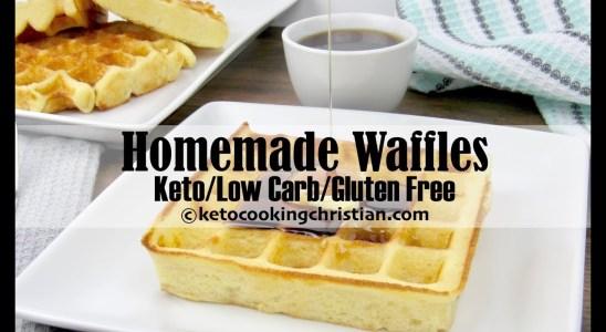 Homemade Waffles - Keto, Low Carb & Gluten Free