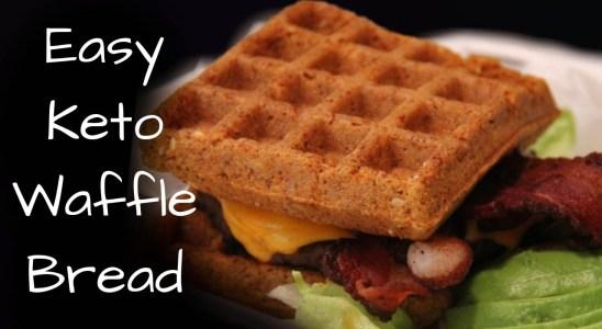 How To Make Keto Bread Recipe | Quick Keto Waffle Bread | Low Carb Bread | No Bake Ketogenic Bread