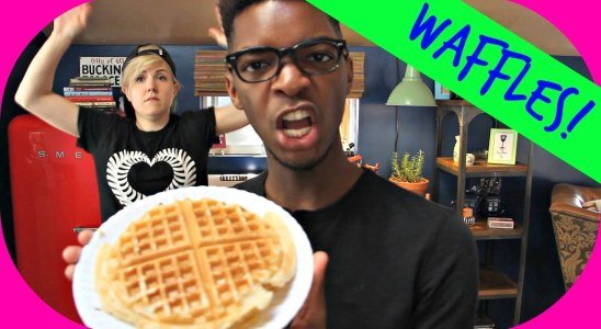 My Drunk Kitchen ft. Kingsley: Waffles!