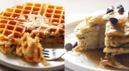 Protein Waffles and Protein Pancakes