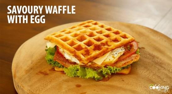 Savoury Waffle with Egg