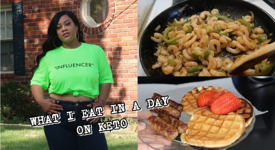 WHAT I EAT IN A DAY ON KETO | KETO WAFFLES, SHRIMP TACOS