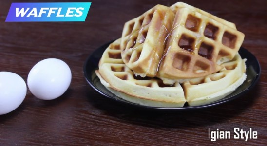 Waffles recipe | Homemade belgian waffles | Easy snack recipe