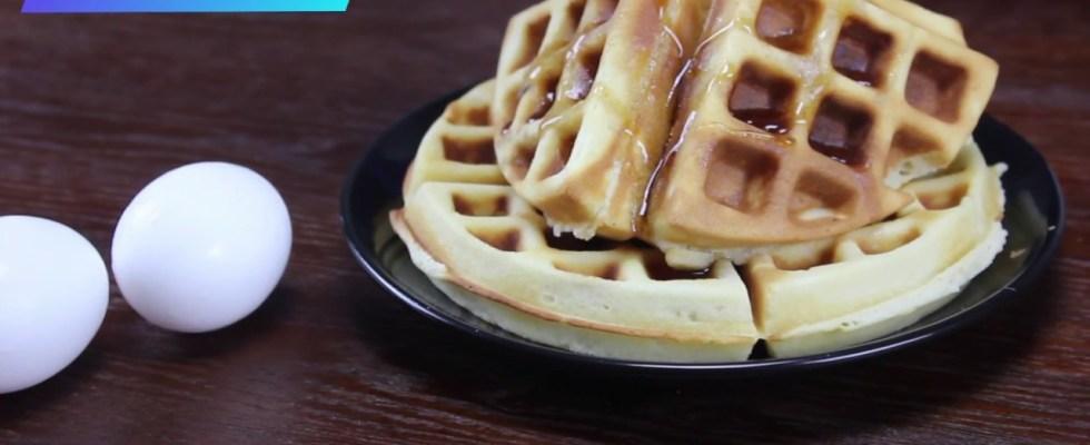 Waffles recipe   Homemade belgian waffles   Easy snack recipe