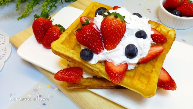 Homemade Belgium style Dessert Waffles | d for delicious