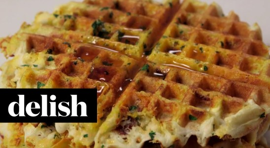 How To Make Bacon, Egg & Cheese Waffles | Delish