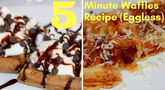 How To Make Waffles! Waffles 2 Ways (Eggless) - Easy Homemade Waffle Recipe