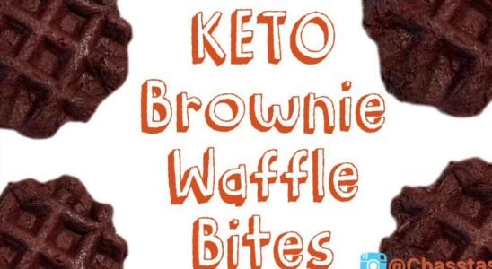 KETO Brownie Waffle Bites | Lazy Keto Recipe | Keto Dessert | Chassity Hudgins