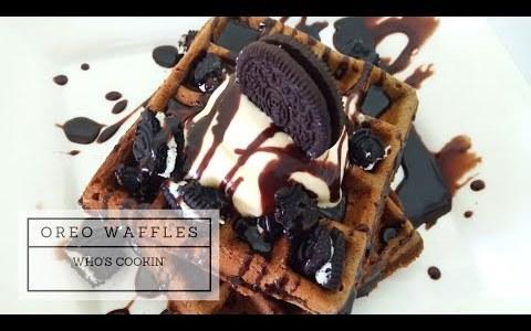 Oreo Waffles Recipe / Resepi Waffle Oreo / Easy Homemade waffle