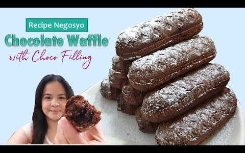 Recipe Negosyo CHOCOLATE WAFFLE with chocolate Filling | ASG