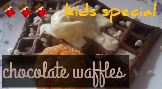 Chocolate waffles recipe || easy to make || kids special || Pakistani mom from Lahore