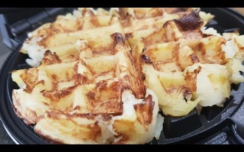 Crispy Vegan Potato Waffles - Quick & Easy Oil Free Recipe!