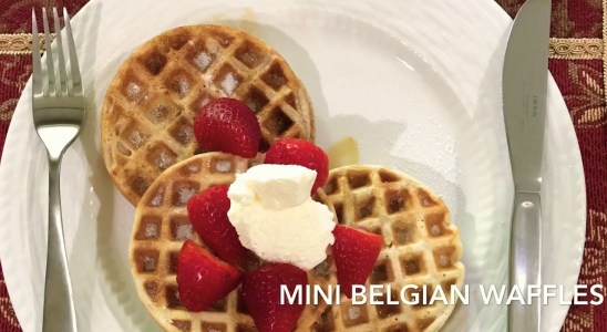 Home made Belgian waffles recipe | Heart to Plate