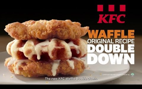 KFC Waffle Original Recipe Double Down - When KFC Chicken Meets Waffle