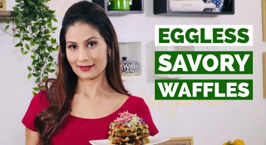 Moong Sprout Waffles Recipe I Eggless Savory I High Protein Meal | Meghna's Food Magic I Chef Meghna