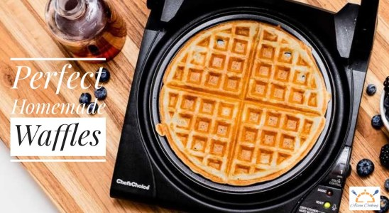 Perfect Homemade Waffles | Easy and Crispy Homemade Waffles Recipe | Asian Cooking
