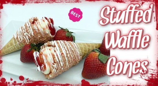 STUFFED WAFFLE CONES | BEST WAY | 4 FLAVORS