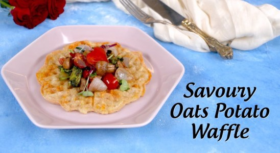 Savoury Waffle Recipe | Oats Potato Waffle & Stir Fried Vegetables Recipe | Healthy Recipe By Sophia