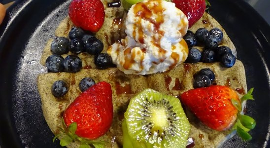The Ultimate Buckwheat and Avocado based Ice Cream Waffle Recipe!