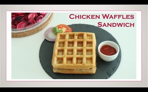 Chicken Waffles Sandwich / Waffles Recipe / Sandwich Recipe In Tamil /With English Subtitles #53