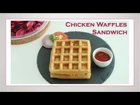Chicken Waffles Sandwich / Waffles Recipe / Sandwich Recipe In Tamil /With English Subtitles #53