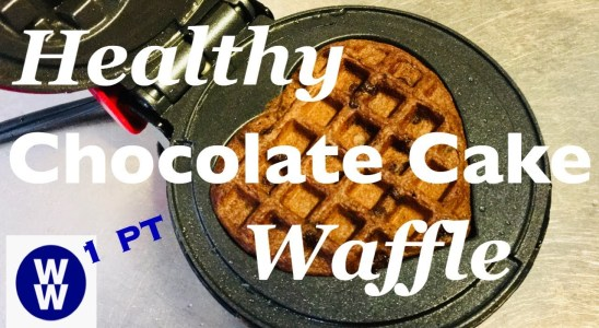 Healthy CHOCOLATE CAKE Waffle Recipe | Fast & Easy - No Eggs, No Butter (WW / Weight Watchers)
