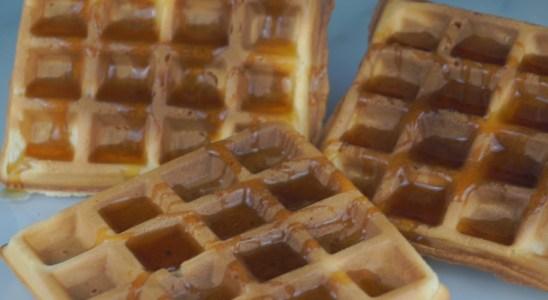 Homemade Crunchy Egg Waffles Easy Recipe