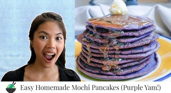 Ube Mochi Pancakes Recipe | Homemade Trader Joe's Mix Alternative