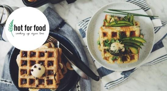 vegan waffles 2 ways | hot for food